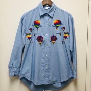 Casey Coleman Women's button Down Shirt Blouse S/M